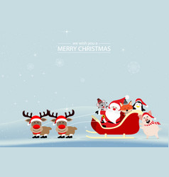 merry christmas and happy new year with cute rats vector image