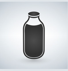 milk bottle icon isolated on white vector image