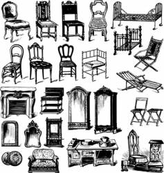 old furniture vector image
