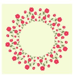 Ornamental wreath vector image