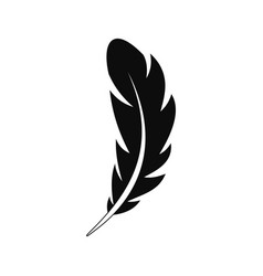 pen feather icon simple style vector image