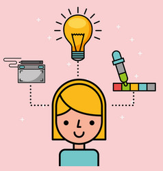 people creative process vector image
