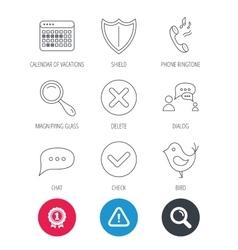 Phone ringtone chat speech bubble icons vector