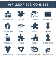 piece icons vector image
