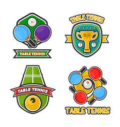 Ping pong table tennis club and tournament award vector
