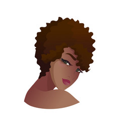 Portrait young african american woman vector