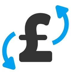 Pound Transfers Flat Icon Symbol vector image