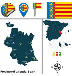 province of valencia spain vector image