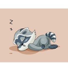 Raccoon cub asleep vector