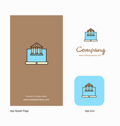 real estate website company logo app icon and vector image