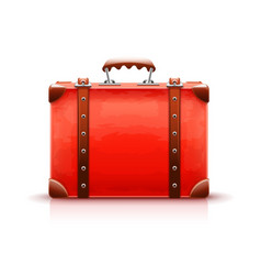 retro suitcase luggage bag vector image