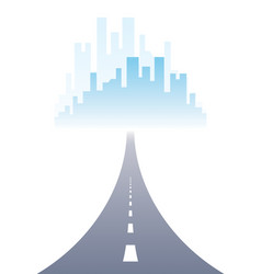 rroad to city highway perfect design big vector image