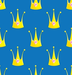 Seamless Crown Pattern vector image