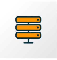 server icon colored line symbol premium quality vector image
