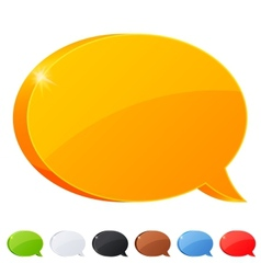 set 7 speech bubble symbol in different colors vector image