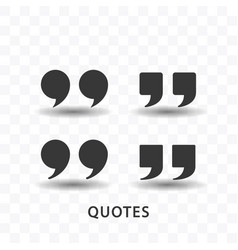 set of quotes icon simple flat style vector image