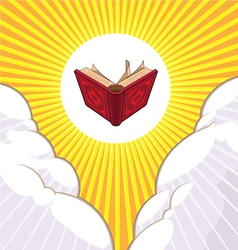 Shining Holy Book Beyond The Clouds vector