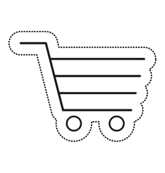 Shopping cart commercial icon vector