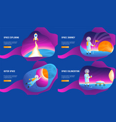 Space journey concepts vector