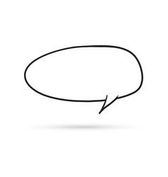 speech bubble cloud draw doodle brush sketch vector image