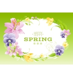 Spring green background Easter Mothers day vector image