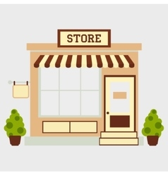 Street store vector image