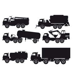Types of trucks vector