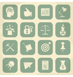 Universal Retro Icons For Web and Mobile vector image
