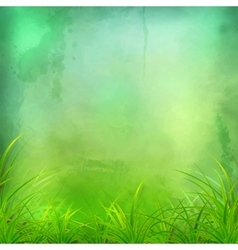 Watercolor Green Grass Background vector image