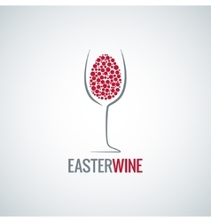 Wine easter egg design background vector