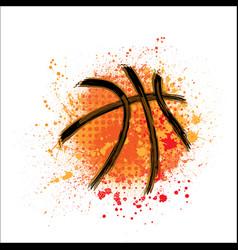 basketball orange grunge background vector image