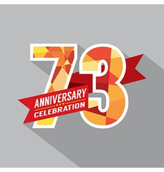 73rd Years Anniversary Celebration Design vector image