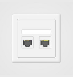 Cloud computing concept Socket rj45 vector image