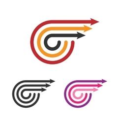 Logo Template Set Three Arrows Line Style vector image vector image
