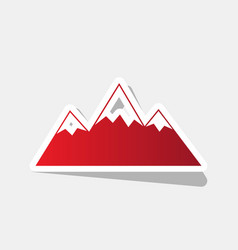 mountain sign new year vector image