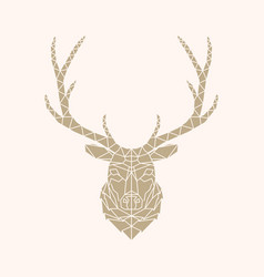 abstract geometric style deer vector image