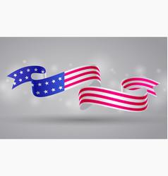 american flag ribbon banner usa symbol 4 july vector image vector image