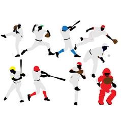 baseball players vs vector image