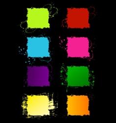 grunge square frames vector image vector image