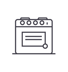 oven line icon sign vector image