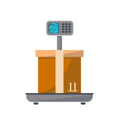 packing box on scales icon vector image vector image