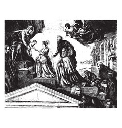 the betrothal of st catherine can be found in the vector image