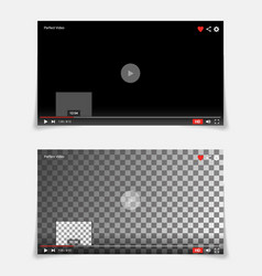 video player interface template modern vector image