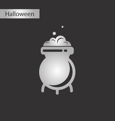 black and white style icon cauldron witches potion vector image vector image