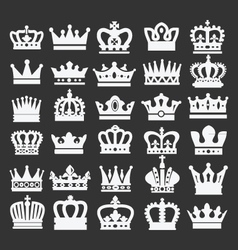 crown silhouettes vector image vector image