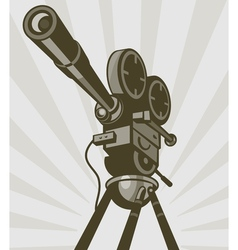 Vintage movie or television film camera vector image