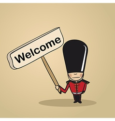 Welcome to UK people vector image