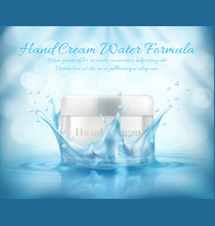 3d realistic hand cream ad banner vector image
