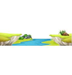 a mountain cliff scene vector image
