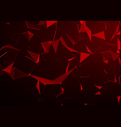 Abstract background with red triangles in space vector